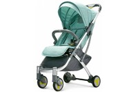Детская коляска трансформер Xiaomi BEBEHOO START Lightweight Four-wheeled Stroller Green
